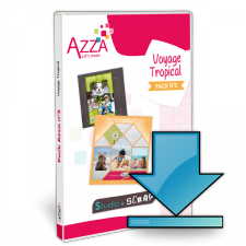 Pack Azza n°3 - Voyage Tropical - Scrapbooking