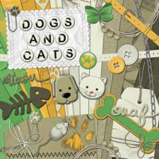 « Dogs and cats » digital kit