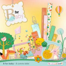 "Digital kit ""B for baby"" by download"