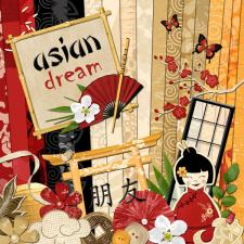 "Digital kit ""Asian Dream"""