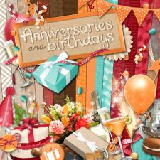 "Digital kit ""Anniversaries and birthdays"""