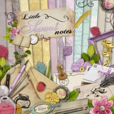 Digital kit « Little sweet notes » by download