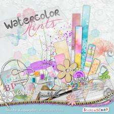 "Digital kit ""Watercolor hints"" by download"