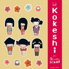 Kit « Kokeshi »