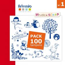 Pack 100 tampons Artemio - N°1 - Scrapbooking en téléchargement