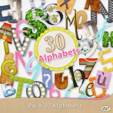 30 alphabets pack
