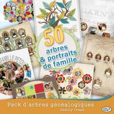 Pack 50 family trees