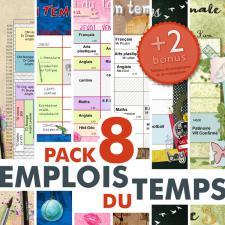 Pack « Emplois du temps »