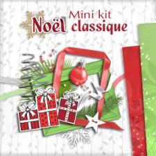"""Mini-kit """"Noel Classique"""" par téléchargement"""
