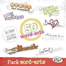 Pack 50 Word-arts - 50 Word-arts