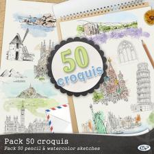 Pack « 50 croquis »