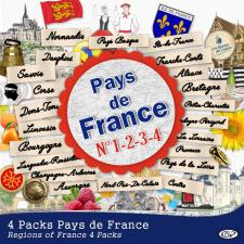 Lot 4 packs « Pays de France » - 1ère, 2ème, 3ème et 4ème parties