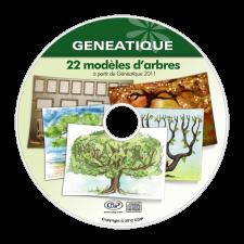 Pack de 22 modèles d'arbres pour Généatique