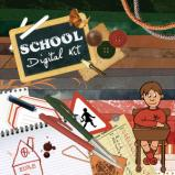 "Digital kit ""School"" by download"