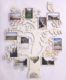 Cadre arbre généalogique en bois - 11 photos
