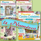Abonnement 4 numéros au magazine Passion Cartes Créatives