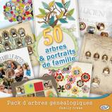 Pack of 50 family trees by download