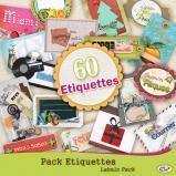 Pack 60 étiquettes en téléchargement pour Studio-Scrap