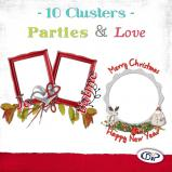 "Mini pack of cluster frames on ""Love and Parties"" by download"