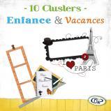 Pack Clusters « Enfance et Vacances » en téléchargement