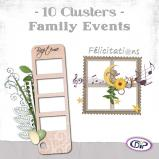 "Mini pack of cluster frames on ""Family events"" by download"