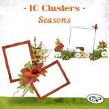 "Mini pack of cluster frames on ""Seasons"" by download"