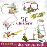 Pack of 50 cluster frames and decorations