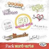 Pack 50 Word-arts - Expressions décorées pour Studio-Scrap