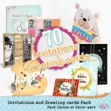 Invitations and Greeting cards Pack by download
