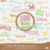 Pack « 100 mots manuscrits » en téléchargement