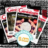 La Revue Française de Généalogie - Abonnement essentiel pour 1 an