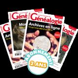 La Revue Française de Généalogie - Abonnement essentiel pour 2 ans
