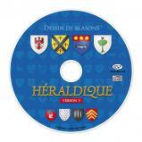 Héraldique 9 : Logiciel pour dessiner vos blasons en téléchargement + CD Rom