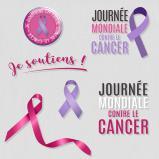 Set pour la Journée mondiale contre le cancer