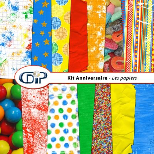 Kit « Anniversaire » - 01 - Les textures