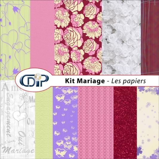 Kit « Mariage » - 01 - Les textures