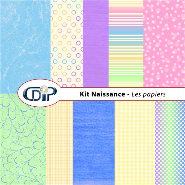 Kit « Naissance » - 01 - Les textures