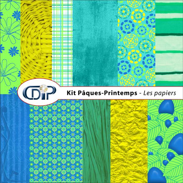 Kit « Pâques-printemps » - 01 - Les textures