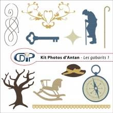Kit « Photos d'antan » - 05 - Les gabarits 1