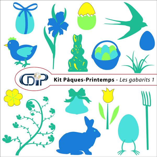 Kit « Pâques-printemps » - 05 - Les gabarits 1