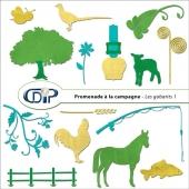 Kit « Promenade à la campagne » - 05 - Les gabarits 1