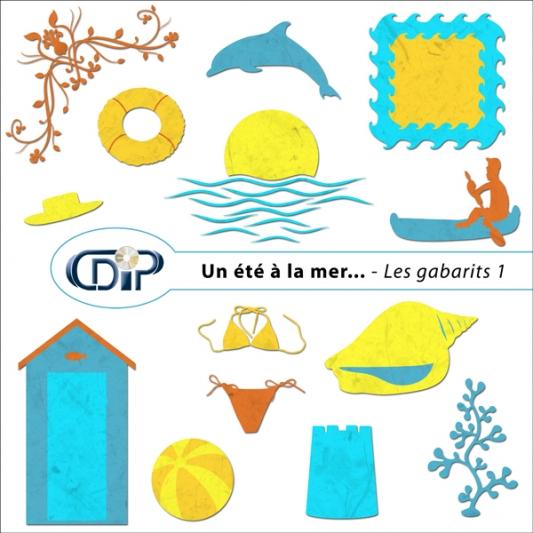 Kit « Un été à la mer… » - 05 - Les gabarits 1