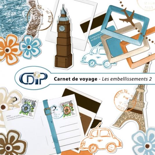 Kit « Carnet de voyage » - 03 - Les embellissements 2