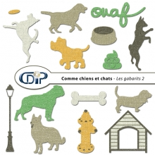 Kit « Comme chiens et chats » - 06 - Les gabarits 2