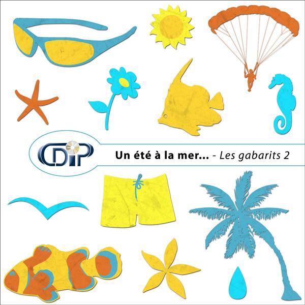 Kit « Un été à la mer… » - 06 - Les gabarits 2