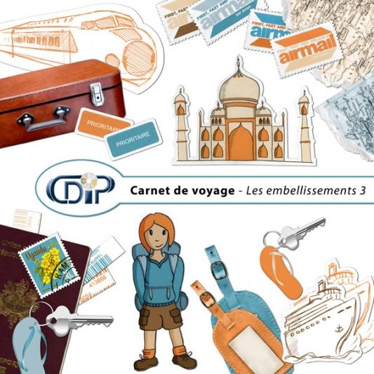 Kit « Carnet de voyage » - 04 - Les embellissements 3