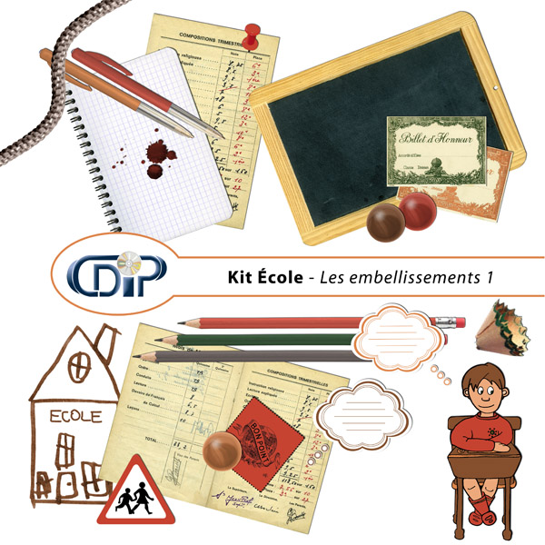 Kit « Ecole » - 02 - Les embellissements 1