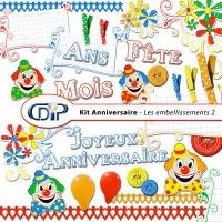 Kit « Anniversaire » - 03 - Les embellissements 2