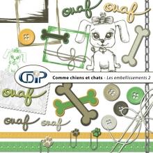 Kit « Comme chiens et chats » - 03 - Les embellissements 2