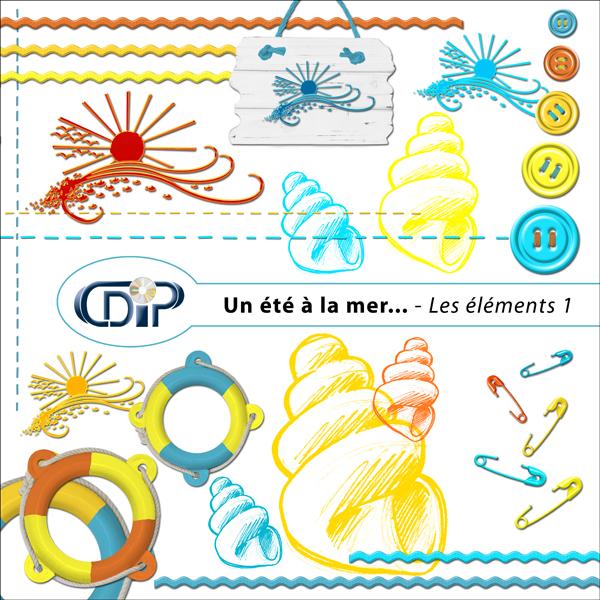 Kit « Un été à la mer… » - 02 - Les embellissements 1